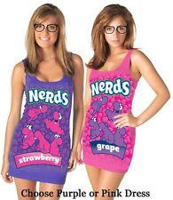 Juniors Nerds Sexy Costume Tank Dresses Halloween Includes Nerd Glasses