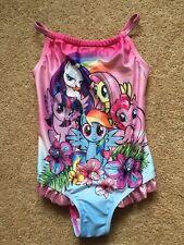 Baby Ragazze My Little Pony Costume Da Nuoto Sole Vestito Sparkle Carino Nuovo