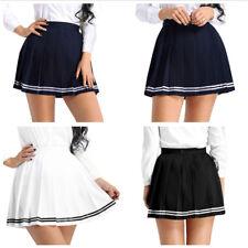 Womens School Girl High Waisted Pleated Mini Skirt Sport Shorts Tennis Skirts