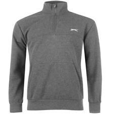 ✔ SLAZENGER Herren Reißverschluss Sweatjacke Fleece Pullover Sweatshirt Grau