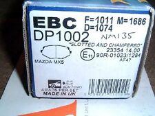 Front brake pads EBC, Mazda MX-5 1.8 mk1 Eunos, & mk2 1.6 & 1.8 with std brakes