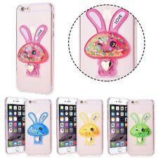 "% FUN CASE Bunny Cover Hülle Case Flüssig Glitzer Apple iPhone 6 4,7"" iPhone 6S"
