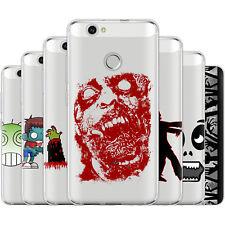 dessana Zombie Muster Silikon Schutz Hülle Case Handy Tasche Cover für Huawei