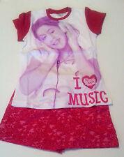 Neu Pyjama Set Schlafanzug Mädchen Disney Violetta Kurz Gr. 116 122 128 134 #3