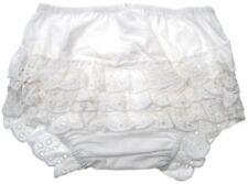 Baby Ragazze Bianco Cotone Frilly Pantaloni Con Cotone Fronzoli 0-18 mesi