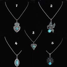 Womens Ethnic Tibetan Silver Turquoise Necklace And Pendant Jewellery Gift UK