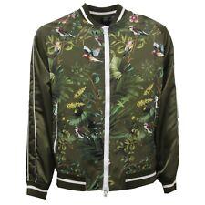 E7198 giubbotto uomo MESSAGERIE floral green jacket men