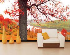 3D River, red woods 16 Wall Murals Wallpaper Decal Decor Home Kids Nursery Mural