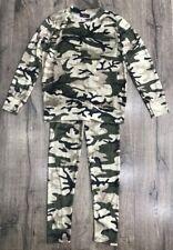 Girls Babies Army Camo Jogger Lounge Wear Crushed VELOURS VELVET 2pcs Tracksuits