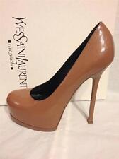 YSL Yves Saint Laurent Tribtoo Tribute Two Platform Pumps Heels Shoes Nude $795