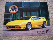 LOTUS ESPRIT V8 SINGLE SHEET SALES BROCHURE 2002-2004 USA EDITION
