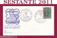 ITALIA FDC CAPITOLIUM 251 1974 ISTITUZIONE ORDINI FORENSI ANNULLO MATERA F207