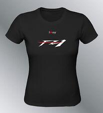 Tee shirt personnalise FZ1 S M L XL femme noir col rond moto FZ 1