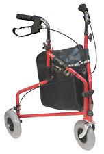 Lightweight Adjustable Folding Tri-Walker Shopping Bag - Red or Blue