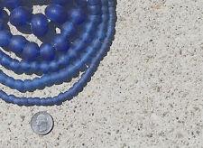 BEAUTIFUL FAIR TRADE ARTISAN UNENHANCED RECYCLED GLASS BEADS INDIGO BLUE
