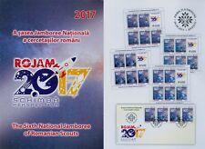 Rumänien 2017 Pfadfinder,Kronstadt,Emblem,SCOUT,JAMBOREE 7255-58,Zf,KB,FDC