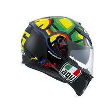 Casco integrale Da Moto AGV K3 SV TARTARUGA Helmet Per Scooter Valentino Rossi