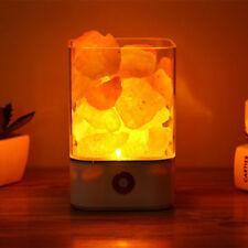 USB Himalayan Salt Led Lamp Crystal Light Air Purifier Lamp Color Changing Lamp