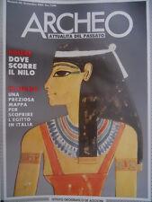 ARCHEO 55 1989 Dossier:dove scorre il Nilo.Etruschi in posa.Affreschi di Stabiae