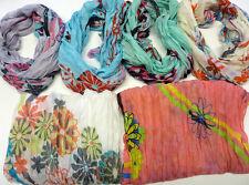 Bufanda Con Flores motivo aprox. 180 x 50 cm. NUEVO 100% VISCOSA