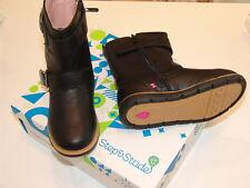 NEW Step&Stride girl's boots - Lara Black - toddler size 6-12 adjustable width
