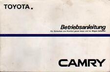 TOYOTA  Camry 1 Betriebsanleitung 1985 Bedienungsanleitung  V10 Handbuch BA