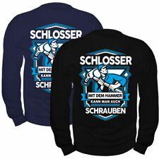 Pullover Sweatshirt Schlosser mit dem Hammer Werkstatt Kfz Industrie Reparatur