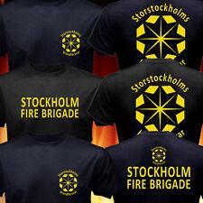 Sweden Storstockholms brandförsvar Stockholm Fire Brigade Fire Fighter T-shirt