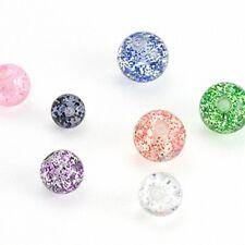 Piercing Sfera Avvitabile Ricambio di Chiusura Filettatura Interna UV Glitter