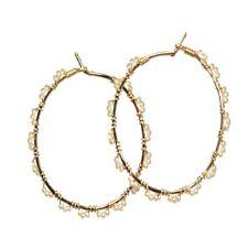 Seychelles 120 ~ Hoop Earrings with Pearl Color & Metal Choice