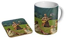 The Sound of Music Julie Andrews Hill Ceramic Tea - Coffee Mug Coaster Gift Set