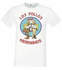 Los pollos hermanos camiseta masculina Top Para Hombre Blanco Gustavo comida rápida