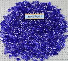 LEGO - 1x1 Cone Trans Dark Purple w/ Top Groove #4589b Lot Cylinder Brick Bulk