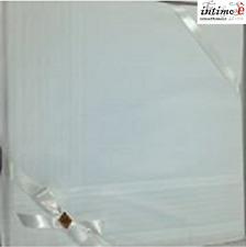 SET 12 FAZZOLETTI DA UOMO LEGLER BIANCHO RIGO PASTELLO 100% COTONE 44x44 CM