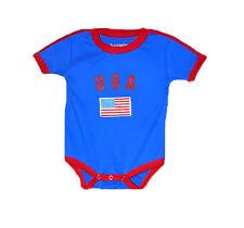 USA World Cup Baby Bodysuit Soccer Football Jersey Tshirt Flag Cotton  Blue