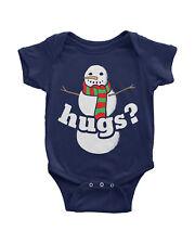 Snowman Hugs Infant Bodysuit Fun Winter Outfit