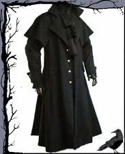 Tageskleidung - Gothic Kutscher Mantel Raven-Claw