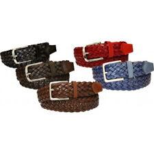 Cintura treccia in cuoio 4 cm 5 varianti colore