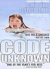 Code Unknown  DVD Juliette Binoche, Thierry Neuvic, Josef Bierbichler, Alexandre