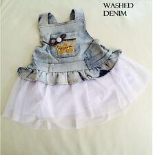 Kids Girl Sleeveless Denim Golden Crown Tiara Dress size 0/1/2/3/4
