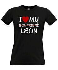 * I LOVE MY boyfriend LEON * Tuning seat Treffen fr SATIRE T-SHIRT GIRL
