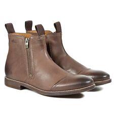 Clarks Men ** X NOVATO ZIP **  BROWN  Leather ** UK 7.5,8,8.5,9,9.5,11,12 G