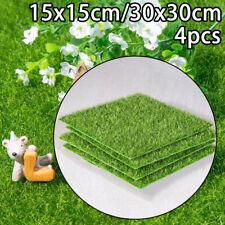 4pcs/Set Artificial Grass Fake Lawn Green Grass Floor Mat Garden Landscape Decor
