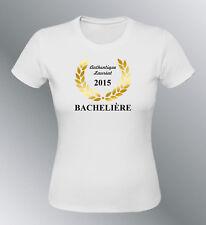 Tee shirt personnalisé BACHELIERE S M L XL femme humour baccalauréat bac diplome