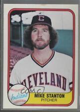 1981 Fleer #400 Mike Stanton Cleveland Indians Rookie Baseball Card