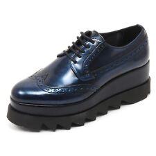 B6942 scarpa inglese donna CULT ALICE LOW scarpe vernice blu shoe woman