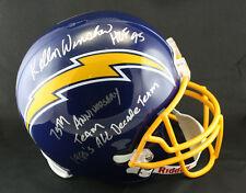 Kellen Winslow SIGNED F/S San Diego Chargers Helmet + 3 Inscriptions ITP PSA/DNA