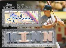2007 Sterling Justin Morneau Jersey Bat Auto 4/10