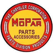 Mopar Parts and Accessories Chrysler Corp Round Retro Vintage Tin Retro Sign