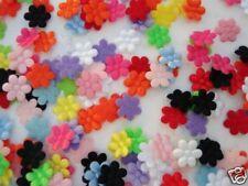 200 Mix Satin/Felt Back Mini Flower Applique/Sewing/Trim/doll/Craft/Padded H58
